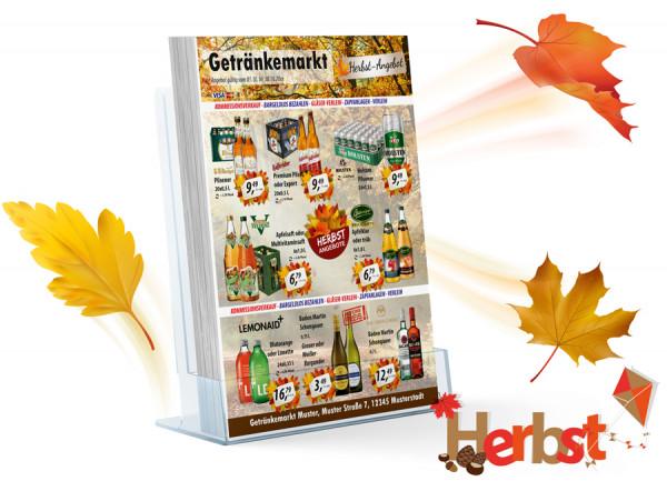 Karl Getränke-Flyer HERBST ( A4 Hochformat / 4 Seiten)