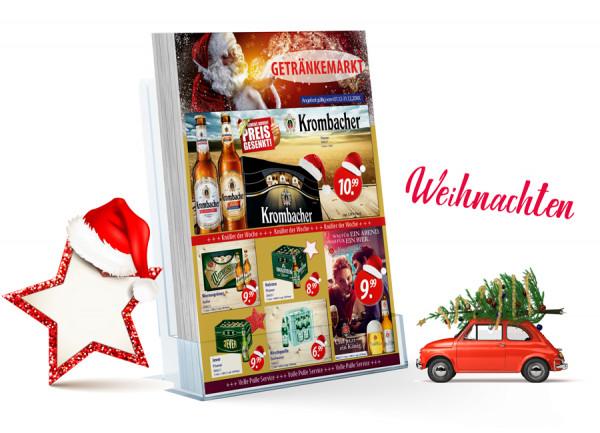 Thomas Getränke Flyer Weihnachten ( A4 Hochformat / 4 Seiten )