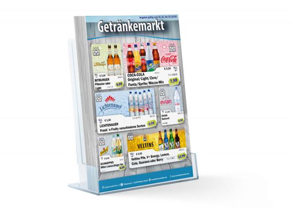 Leon Standard Getränke Flyer (A4 Hochformat / 4 Seiten)