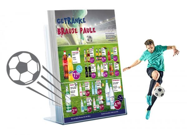 Michael Getränke Flyer Fussball (A5 Hochformat / 2 Seiten)