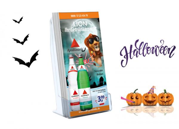 Alexander Halloween Getränke-Flyer (DIN Lang Falzflyer / 6 Seiten)