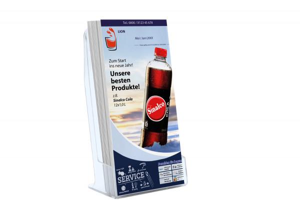 Essen Getränke Flyer ( DIN Lang / Hochformat 6 Seiten )