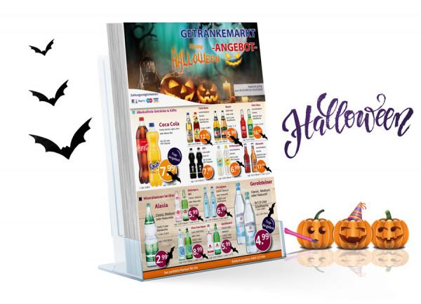 Manuel Getränke Flyer Halloween (A5 Hochformat / 2 Seiten)