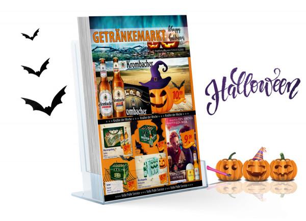 Thomas Getränke Flyer Halloween ( A4 Hochformat / 4 Seiten )