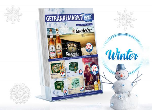 Thomas Getränke Flyer Winter ( A4 Hochformat / 4 Seiten )