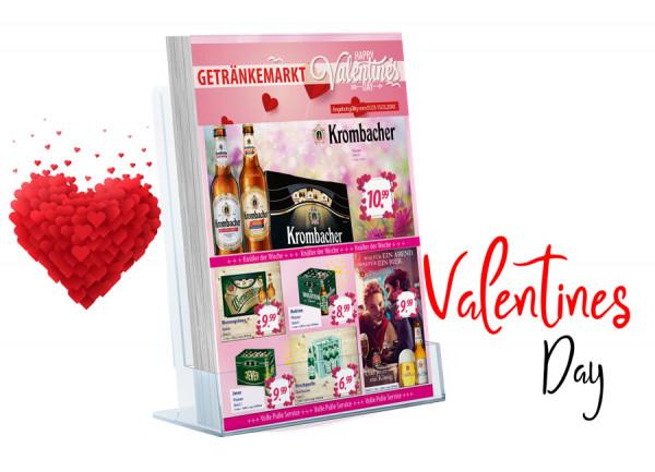 Thomas Getränke Flyer Valentinstag ( A4 Hochformat / 4 Seiten )