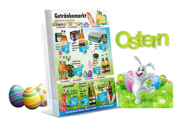 Karl Getränke-Flyer-OSTERN ( A4 Hochformat / 4 Seiten)