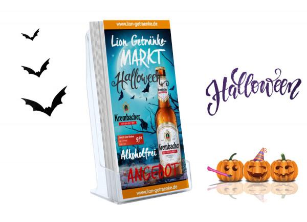 Frank Getränke Flyer Halloween (DIN Lang Falzflyer 6 Seiten)