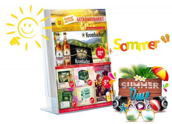 Thomas Getränke Flyer Sommer ( A4 Hochformat / 4 Seiten )