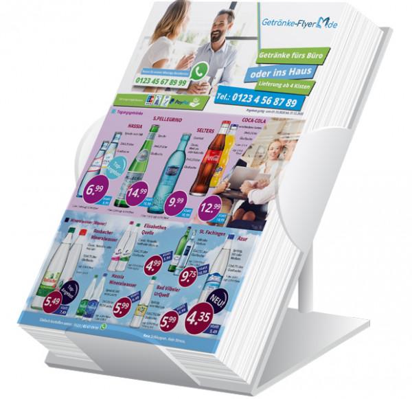 Sky Getränke Flyer Standard ( A4 Hochformat / 4 Seiten )